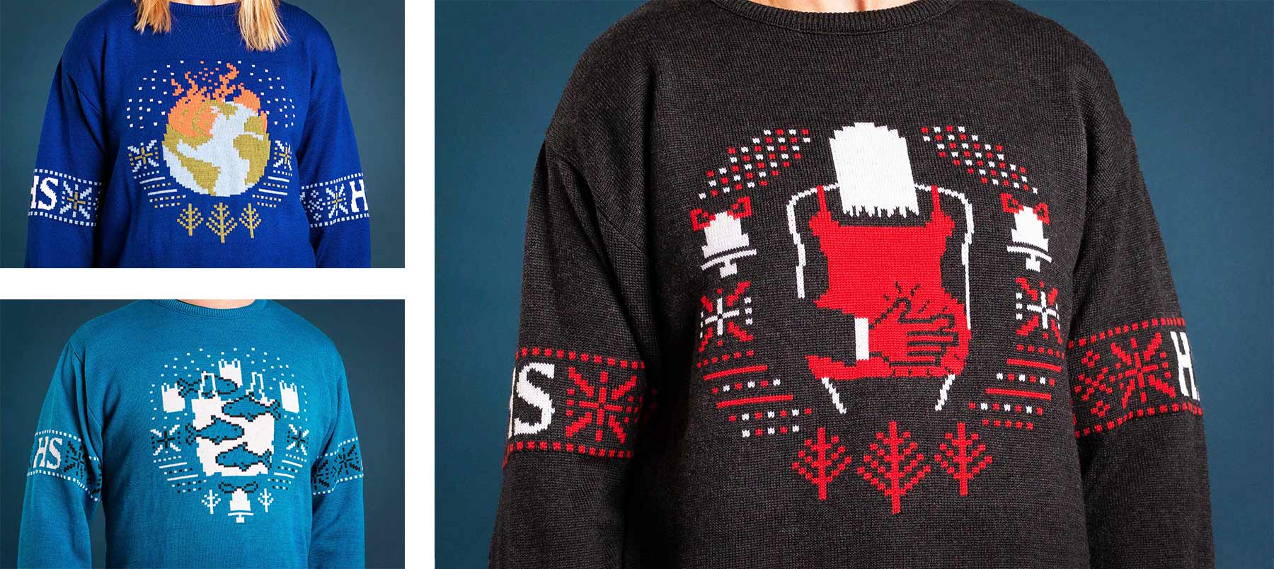 Ugly Truth Christmas Sweaters for Helsingin Sanomat by TBWA Helsinki and Framme
