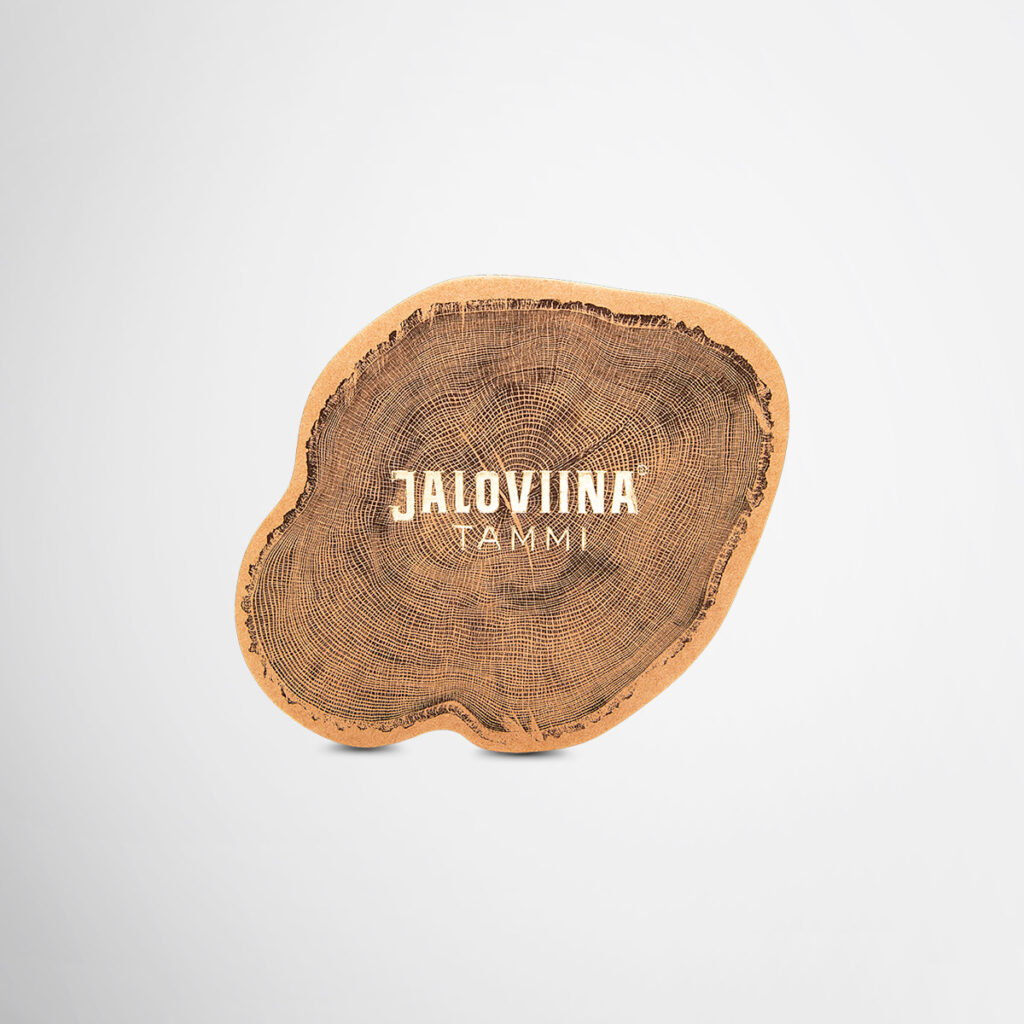 Custom made coasters for Jaloviina by Framme