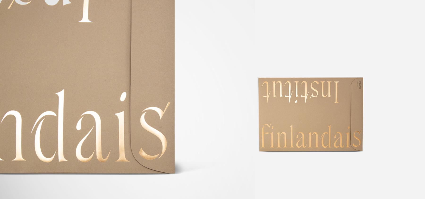 Institut Finlandais Red Dot Award Winning identity by Kuudes. Production by Framme
