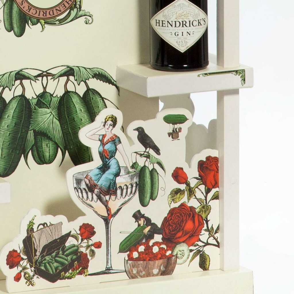 Retail product display for Hendrick's gin by Framme