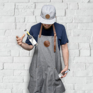Tailor-made aprons for Koskenkorva Vodka by Framme