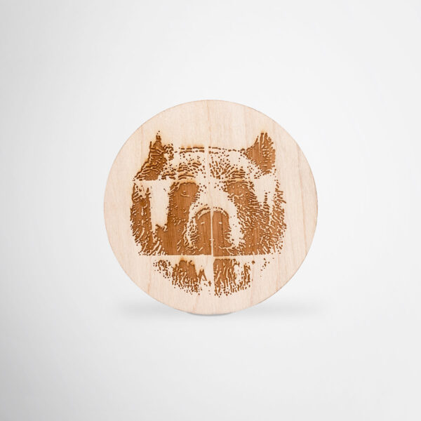 Plywood custom coasters for Karhu by Framme
