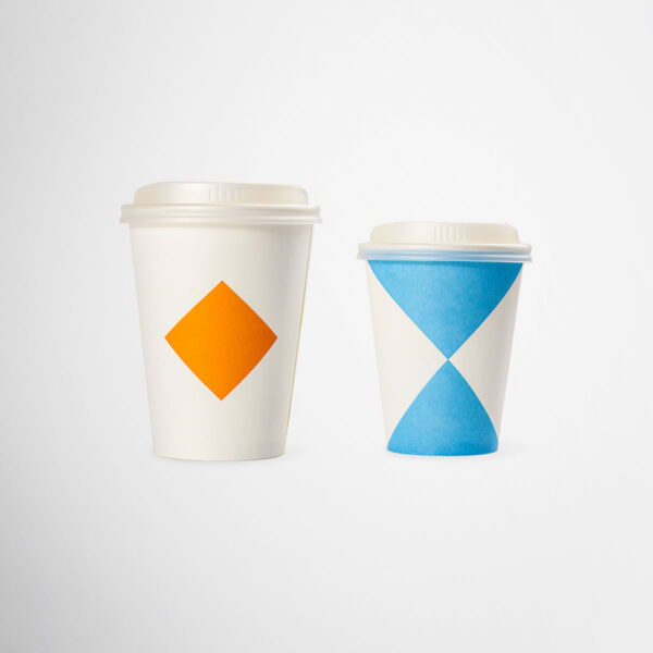 Branded biodegradable paper cups for Anton&Anton by Framme