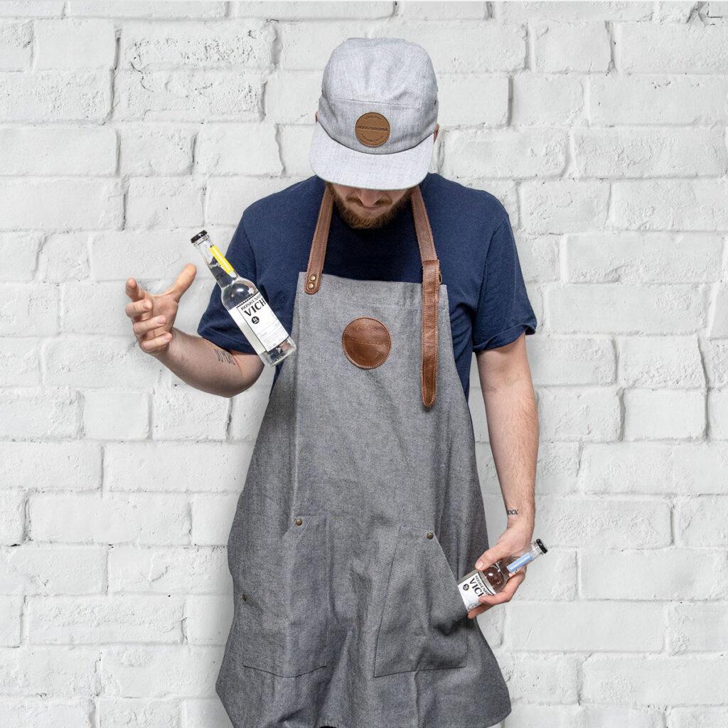 Bartender wearing Koskenkorva Vodka 5 panel cap