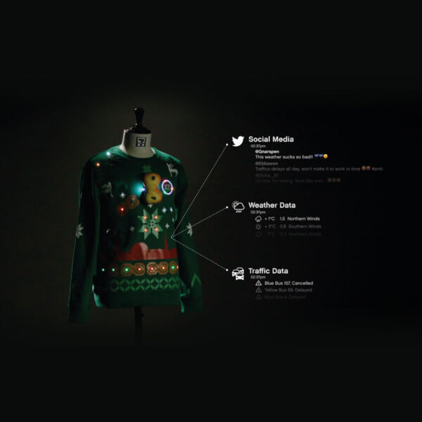 Internet connected IoT sweaters for 7Eleven by Åkestam Holst and Framme