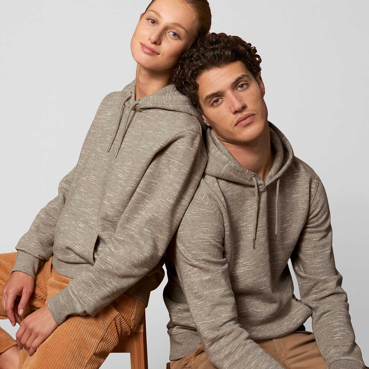 Organic cotton Stanley/Stella Heathered Wood Branded Hoodies by Framme