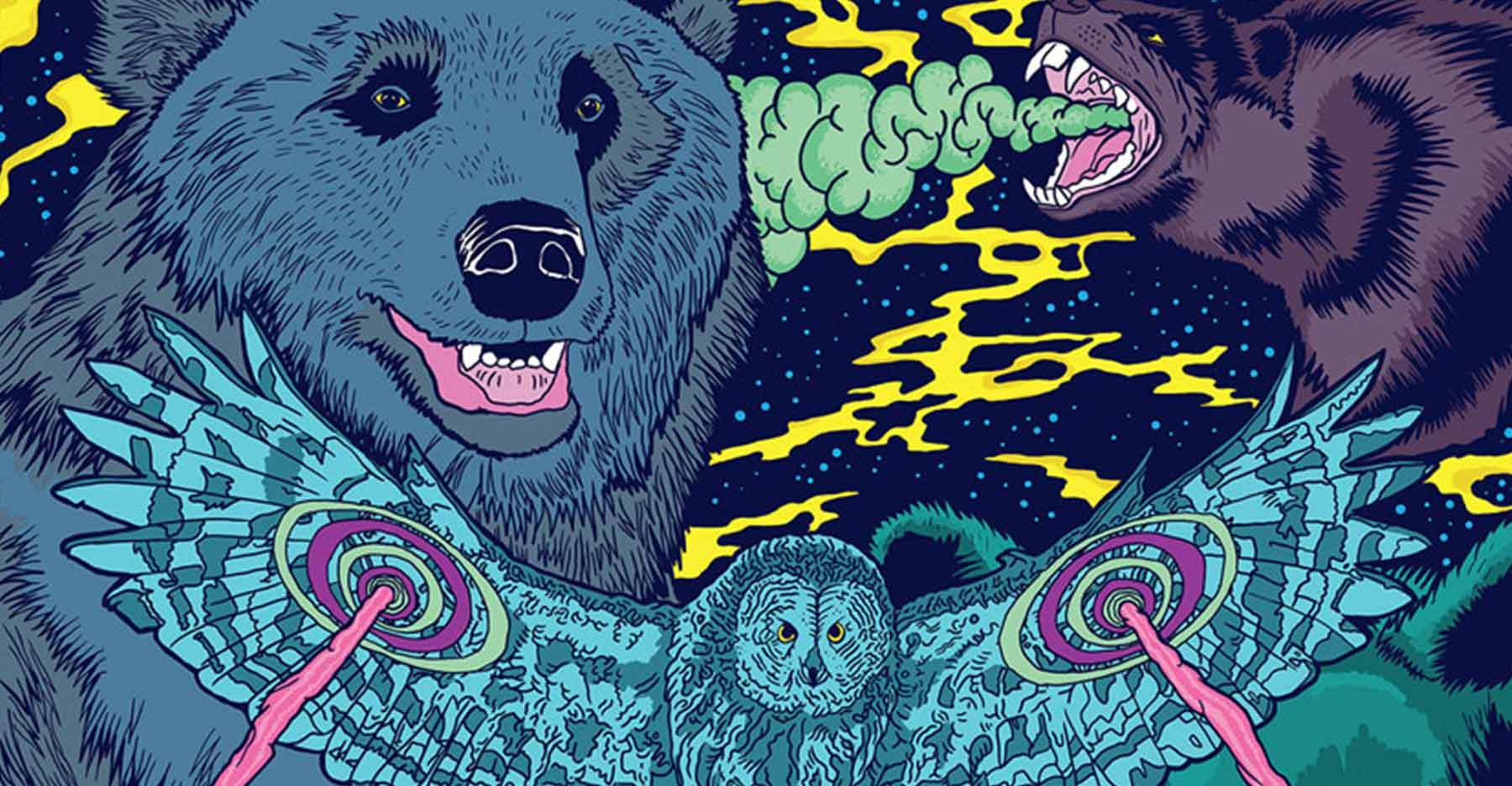 Kaffa Roastery Spirit Animal illustrations by Jari Salo