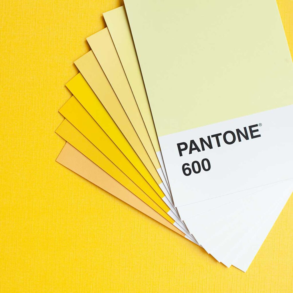 Material advisory with Pantone Swatch