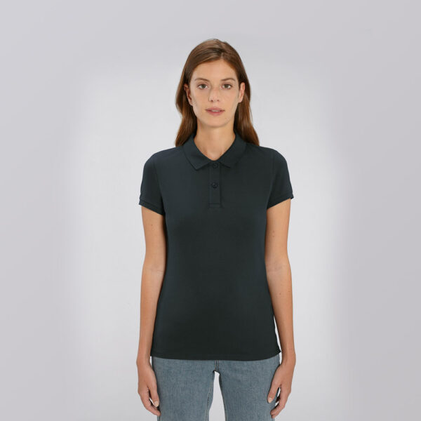 Women's branded organic cotton polo shirts by Framme and Stanley/Stella