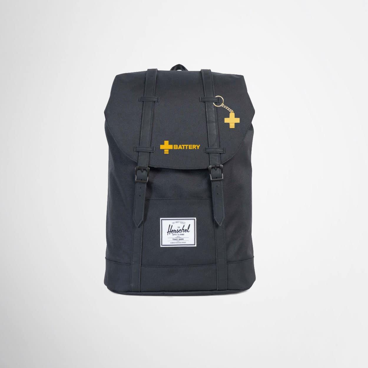 Branded Herschel backpacks for Battery Energy Drink by Framme