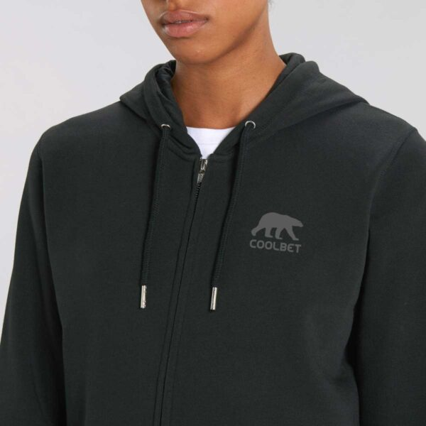 Organic cotton zipper hoodies with branding from Framme and Stanley/Stella
