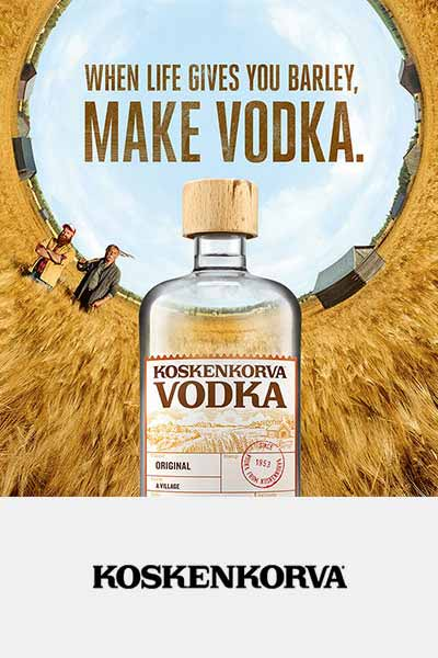 Koskenkorva Vodka Poster – Testimonial of Framme Partnership