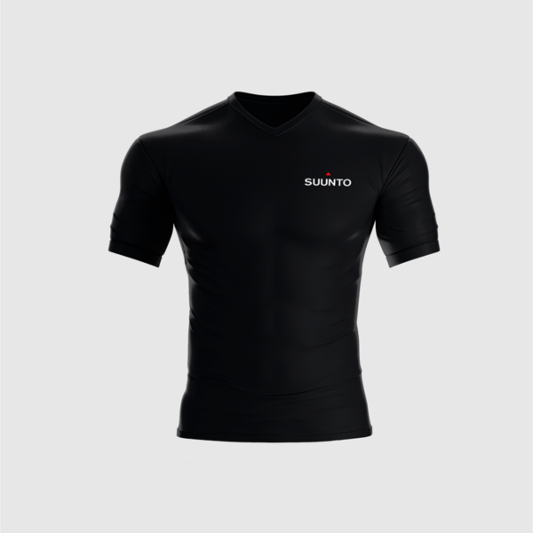 Tailor-made, branded Suunto technical running shirt for athletes