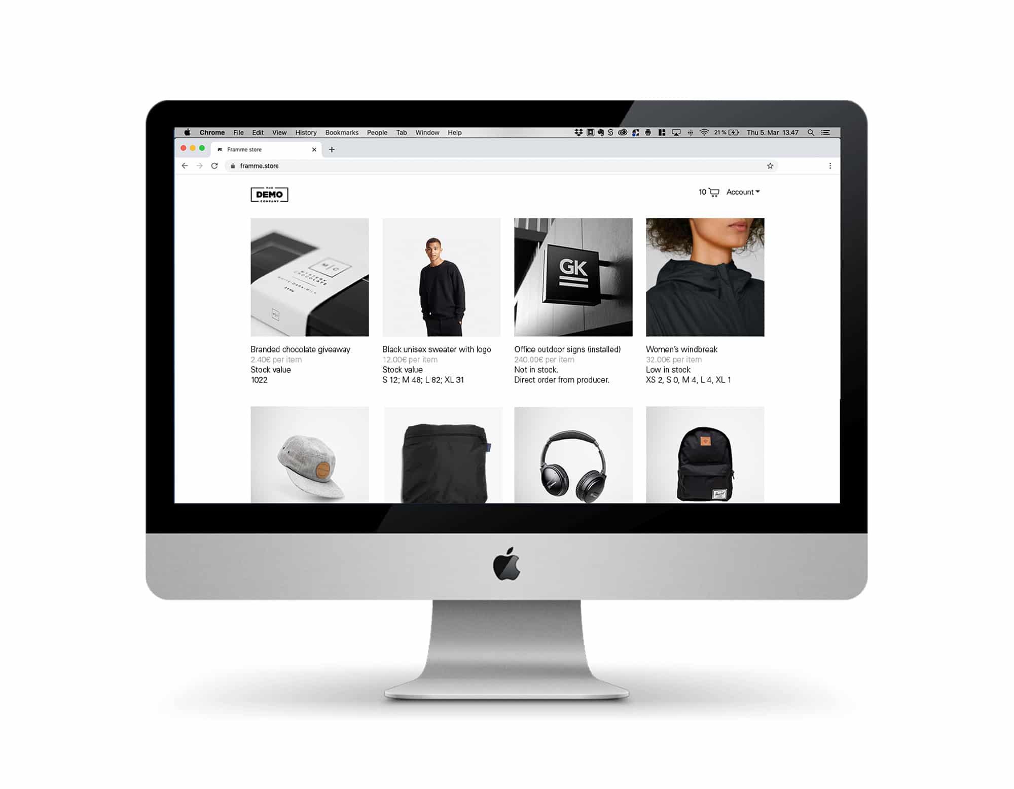 Framme Store Ordering Tool SaaS