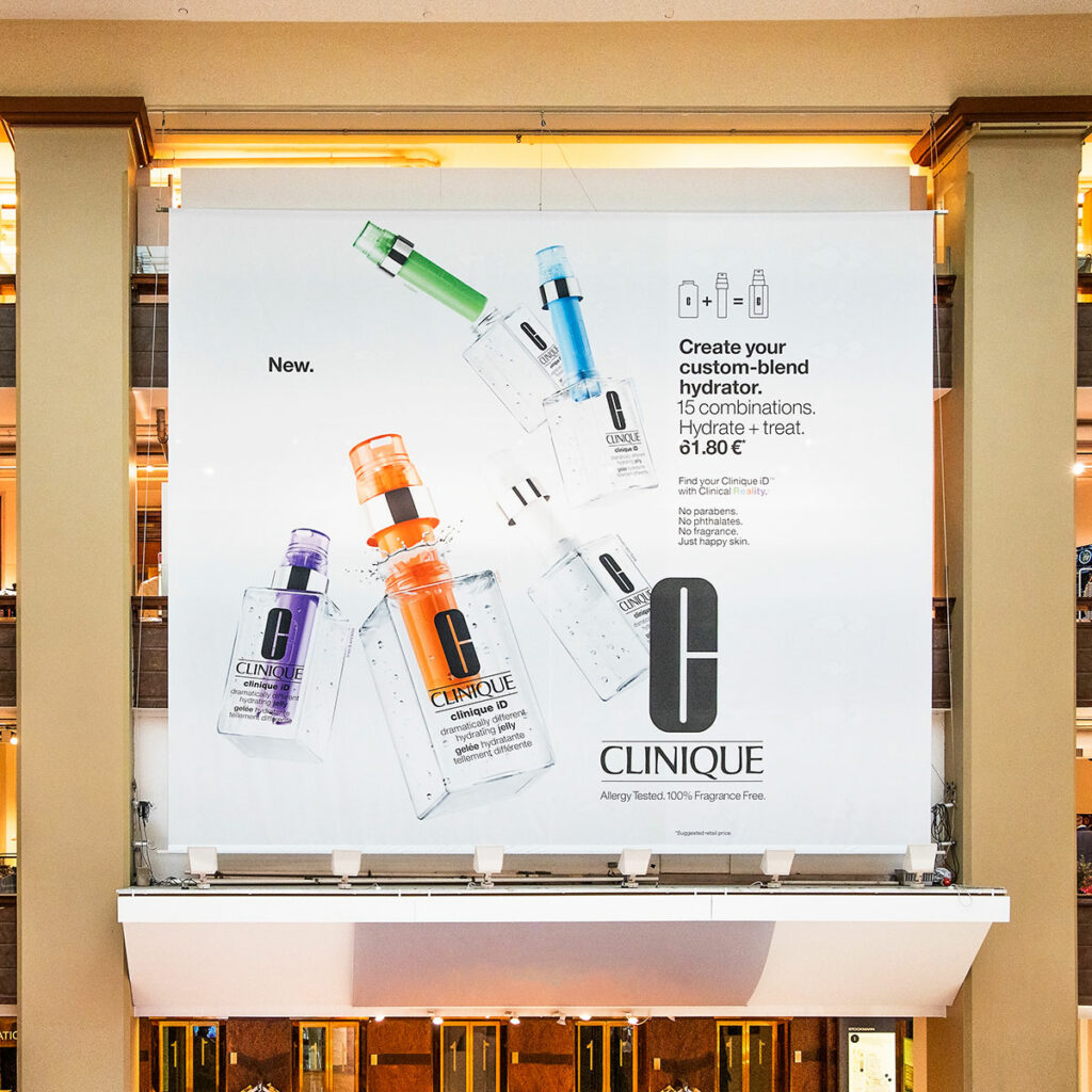 Poster for Clinique in Stockmann by Framme
