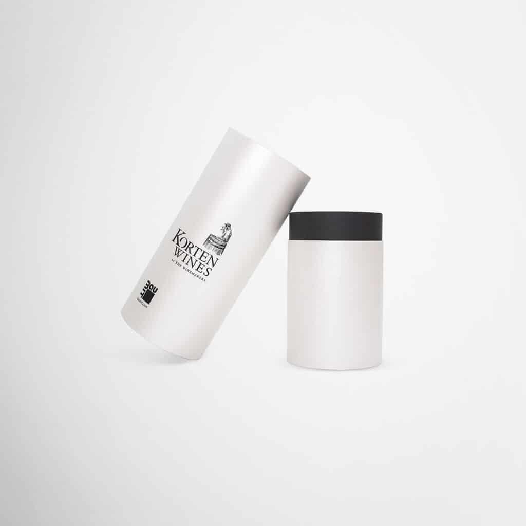 Korten Wines tube packaging by Framme