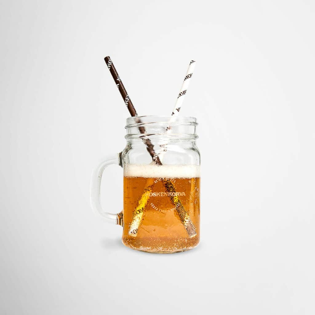 Koskenkorva jug with straws by Framme