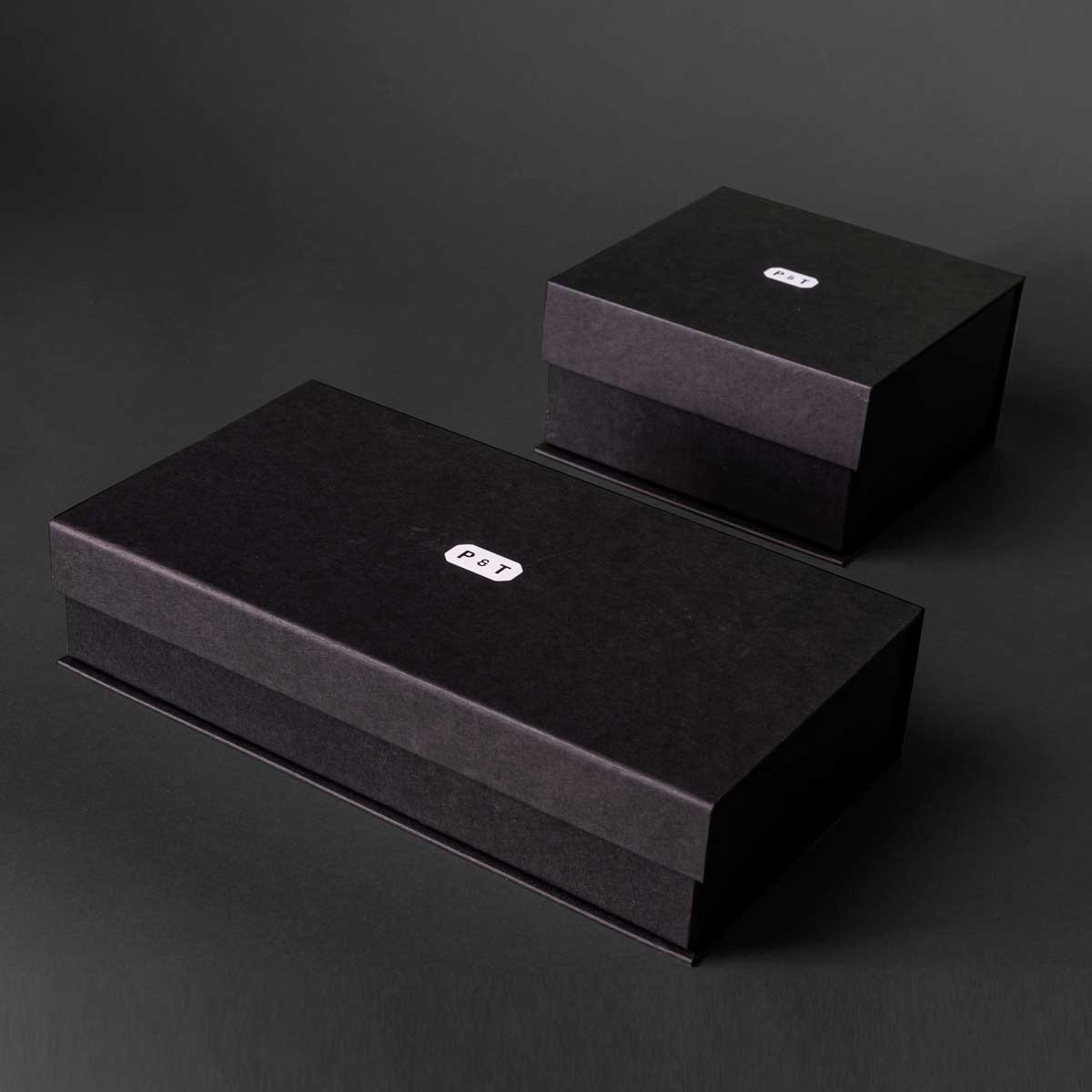 Custom rigid boxes for tea brand P&T by Framme
