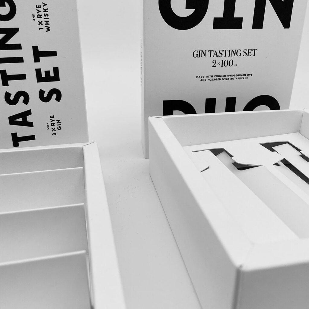 Kyrö Distillery tasting kit package by Framme
