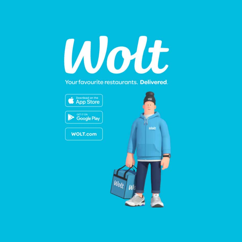 Wolt promocard by Wolt and Framme
