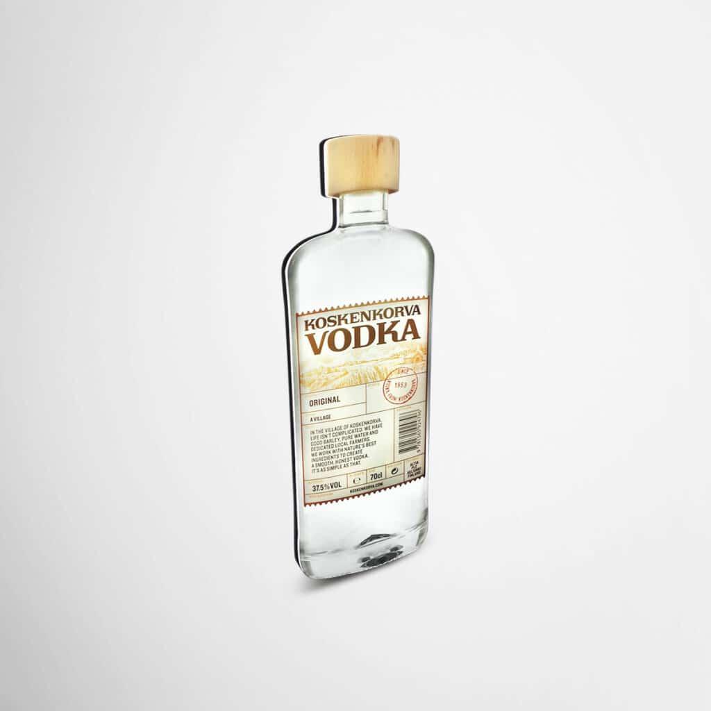 Koskenkorva Vodka bottle shaped lightbox by Framme