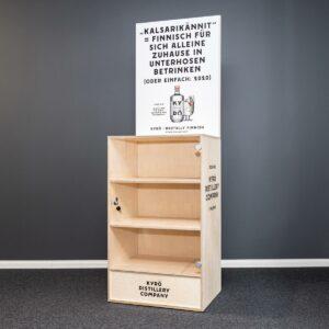 Kyrö Distillery modular and custom made retail displays