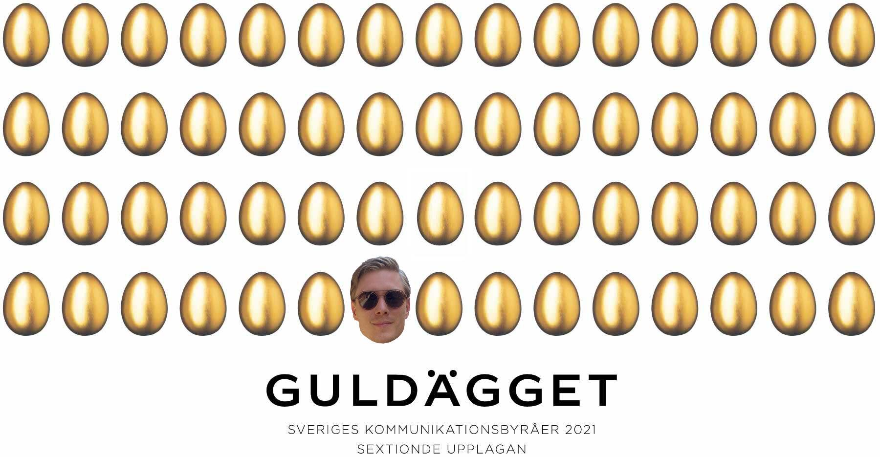 Guldägget partnership Adam Gäfvert