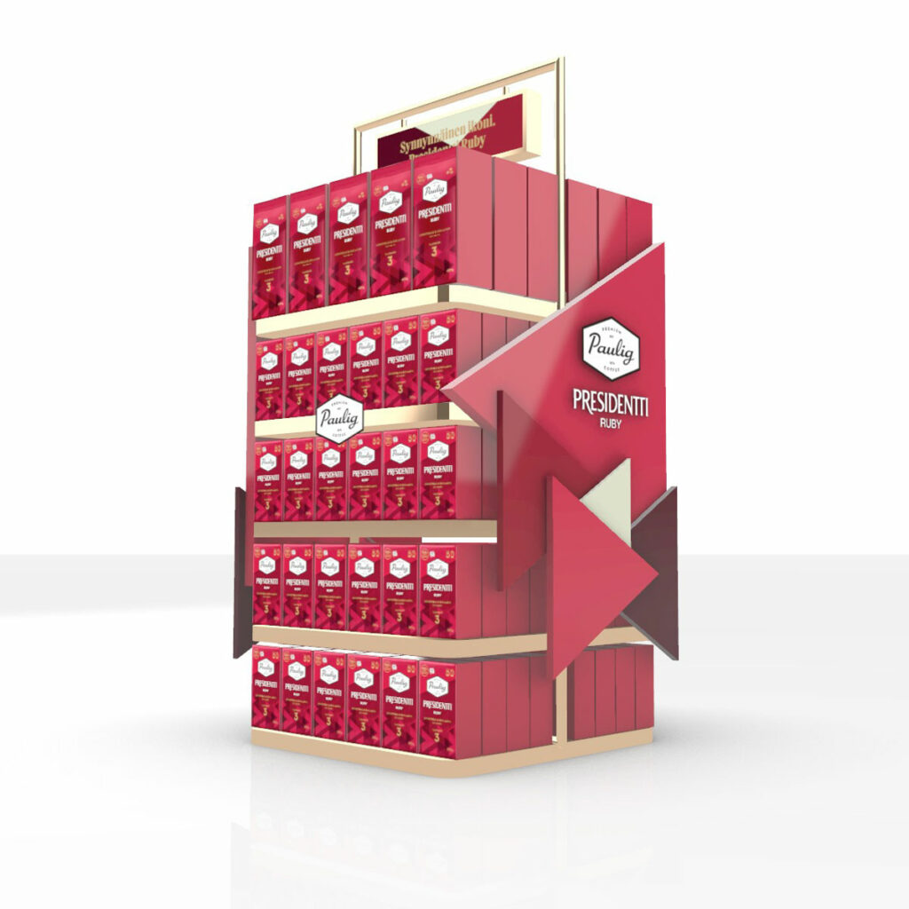 Paulig Ruby Modular Retail Display by Framme