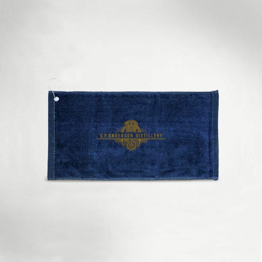tower gold logo towel
